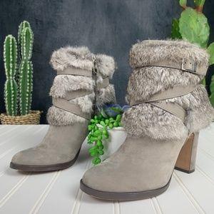 Louise et Cie Yuma Suede & Rabbit Fur Booties